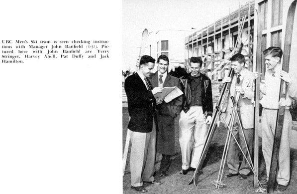 1955 UBC Men's Ski Team