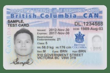 TSC - BC Health Card front
