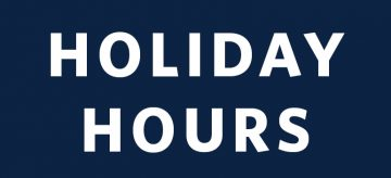 Christmas & New Year Facility Hours