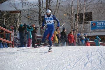 Carington Pomeroy, Club Lead, begins his skate sprint race.