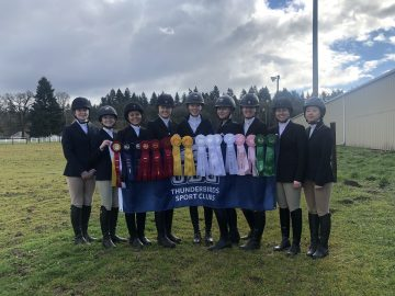 UBC TSC Equestrian rings in Reserve High Point at Willamette University Show