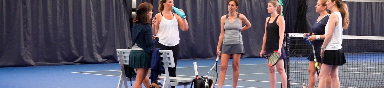 Women on court prior to match