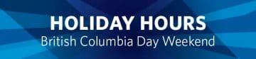 British Columbia Day Holiday Hours