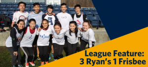 League Feature of the Week: 3 Ryan's 1 Frisbee