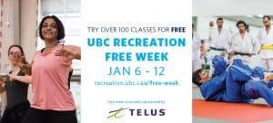 UBC Recreation Free Week   Jan 6-12