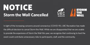 Storm the Wall Cancelled to Limit COVID-19 Risks