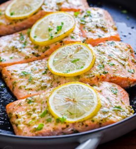 Garlic Dijon Baked Salmon