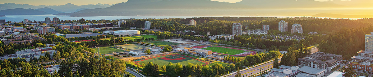 Header image showing UBC's south sport facilities